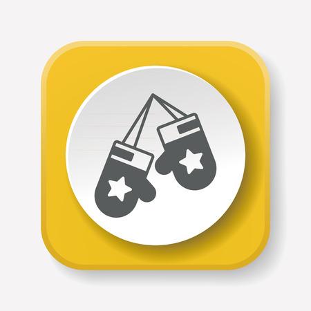 latex glove: glove icon Illustration