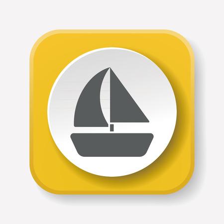 cruise ship icon: pirate ship icon Illustration