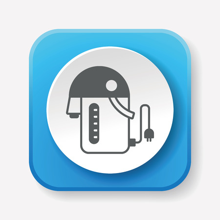 electric kettle: electric kettle icon Illustration