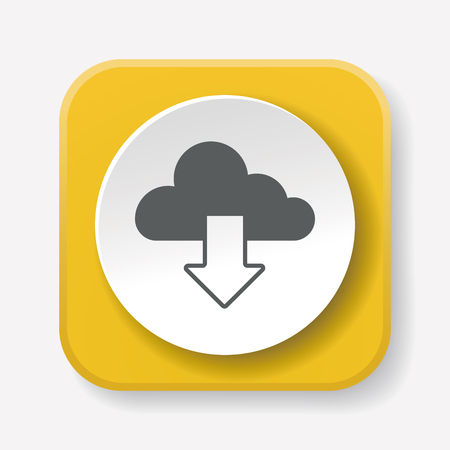 download cloud: Download cloud icon