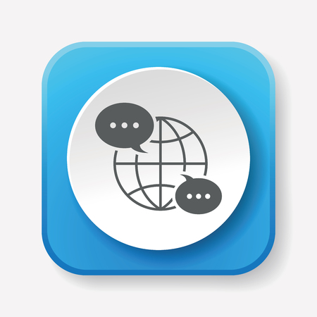 communication icons: global internet icon