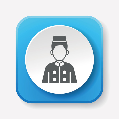 bellman: hotel bellman icon Illustration