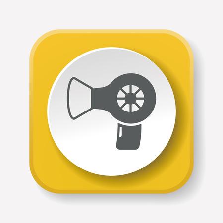 dryer: hair dryer icon