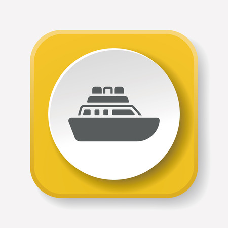 marine industry: ship boat icon