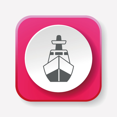 marine industry: ship icon Illustration