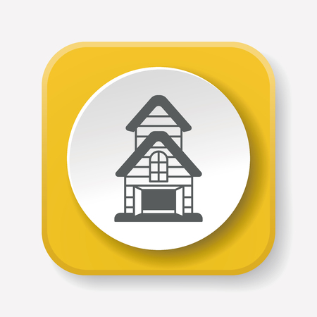 farmhouse: barn icon Illustration