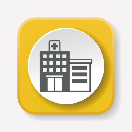 Hôpital icône Vecteurs