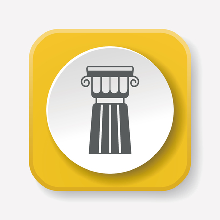 roman pillar: Architectural sculpture icon Illustration