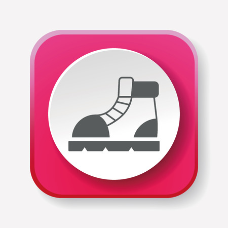 hiking boot: camping boot icon