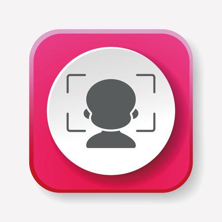 autofocus: Camera autofocus icon