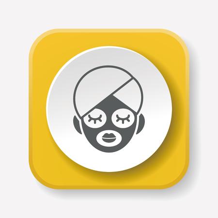 facial: Facial mask icon Illustration