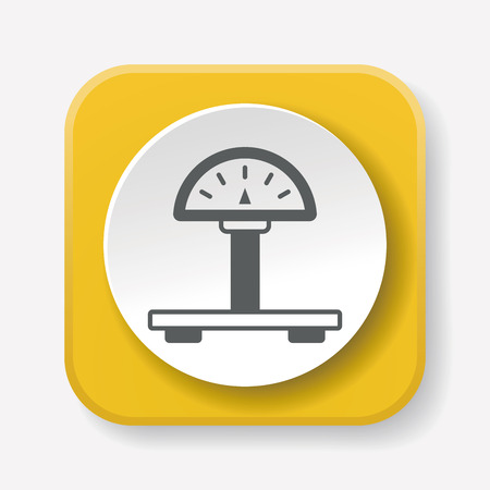 counterweight: weight machine icon Illustration