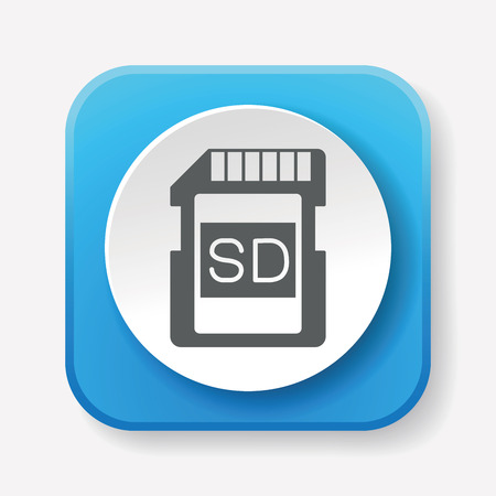 sd card: camera SD card icon