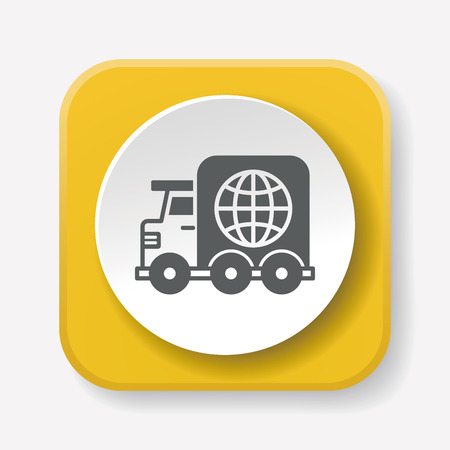 commerce and industry: logistics truck icon