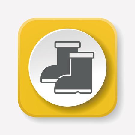 galoshes: Rain boots icon