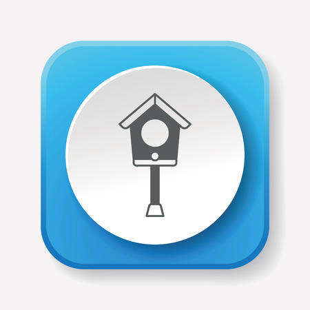 habitats: bird house icon Illustration