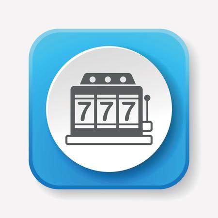 slot machines: Icono de la máquina tragaperras Vectores
