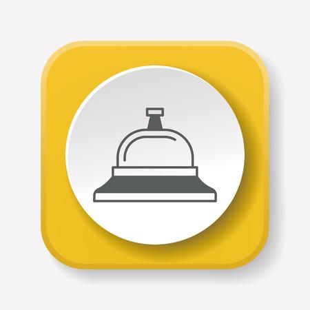 concierge: Service bell icon Illustration
