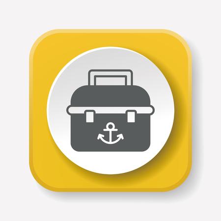 bait box: fishing box icon