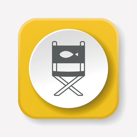 outdoor furniture: fishing chair icon