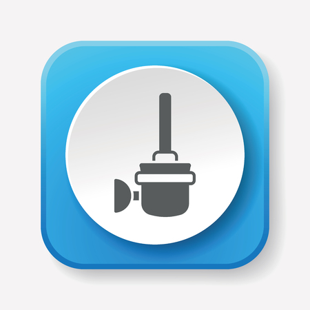 cleaning up: Toilet plunger and brush icon