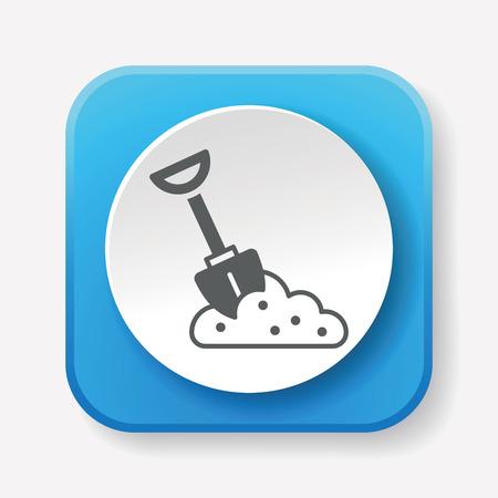 agricultural: gardening shovel icon