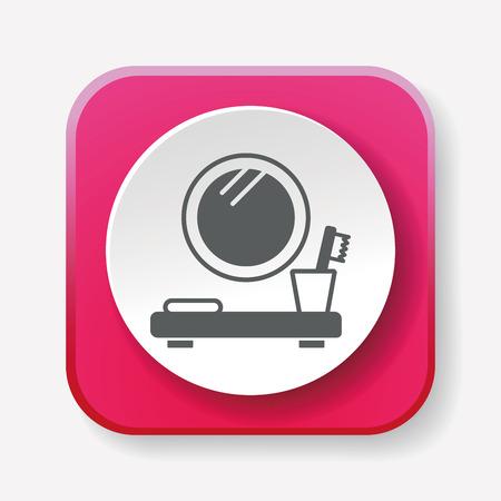 washbasin: mirror washbasin icon