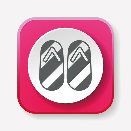 slipper: slipper icon