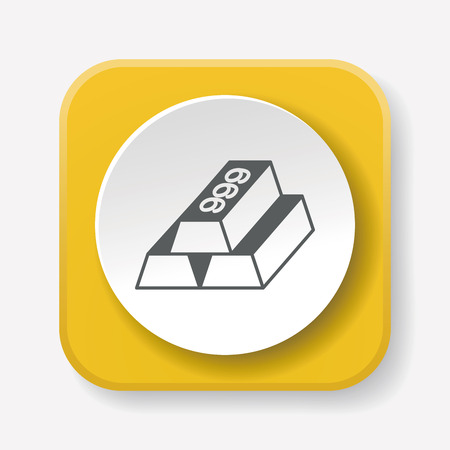 bullion: Gold bullion icon Illustration