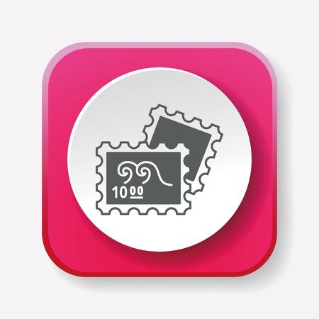 cobrar: recoger icono de sello Vectores