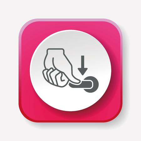handle: flush handle icon