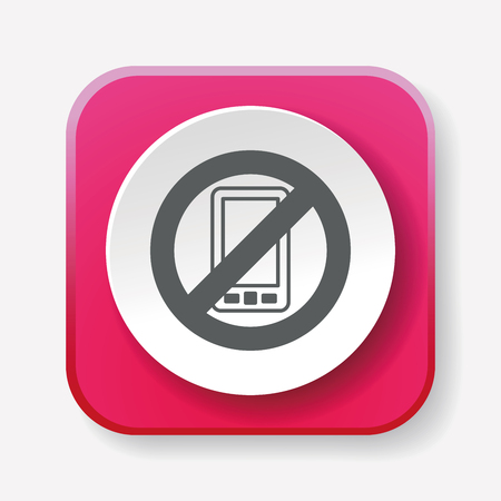 no cell phone: no phone icon