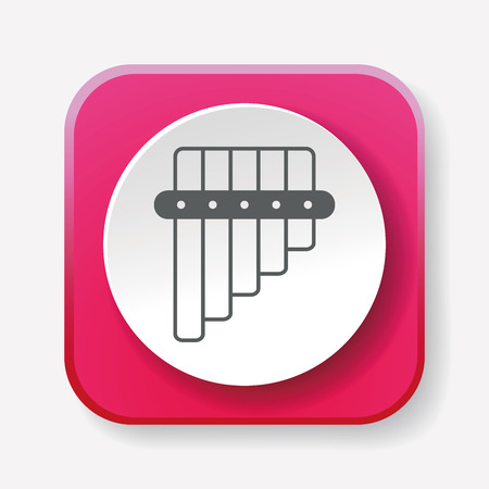flauta: icono de la flauta Vectores