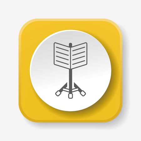 music stand: Music stand icon