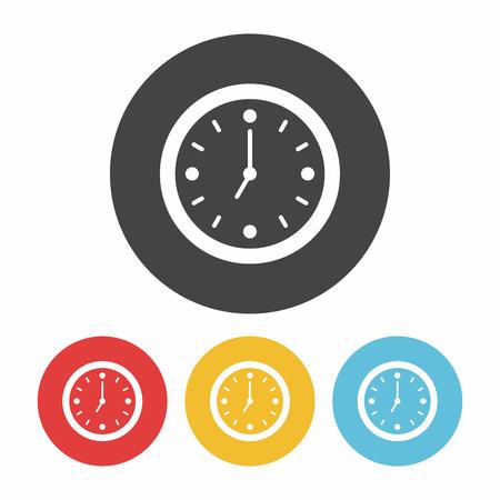 icono de reloj  Ilustración de vector