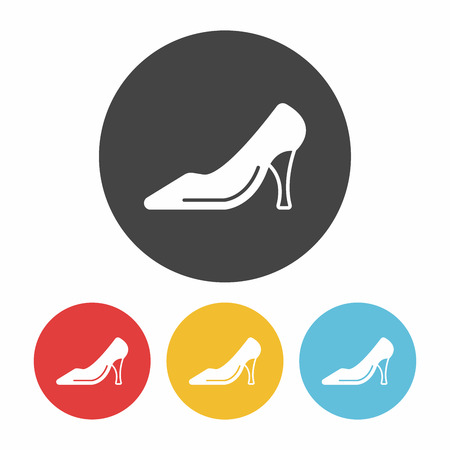 sexy black woman: High-heeled shoes icon Illustration