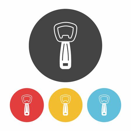 bottle opener: Bottle Opener icon Illustration