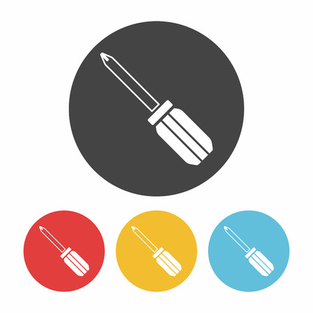 screwdrivers: Screwdrivers icon Illustration