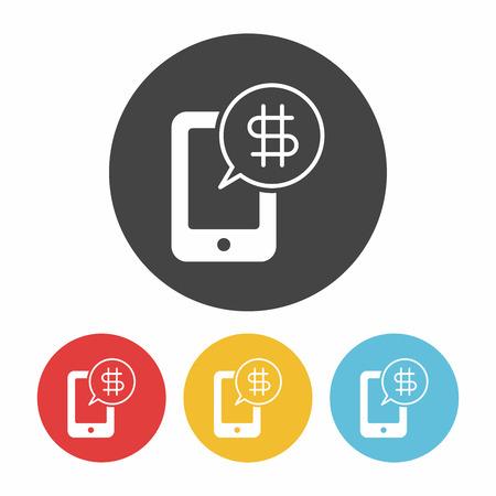 phone icon: phone shopping icon Illustration