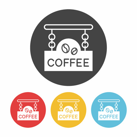 shop sign: coffee shop sign icon