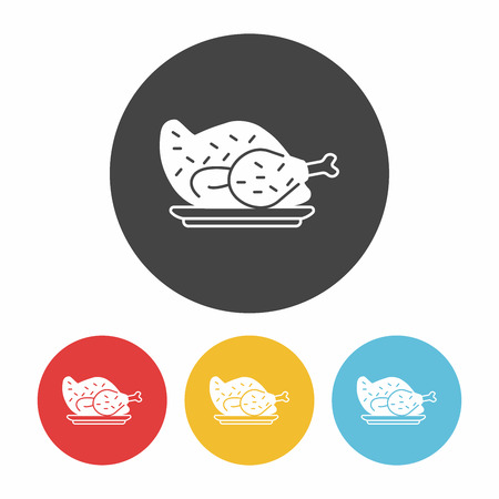 fried chicken wings: chicken icon