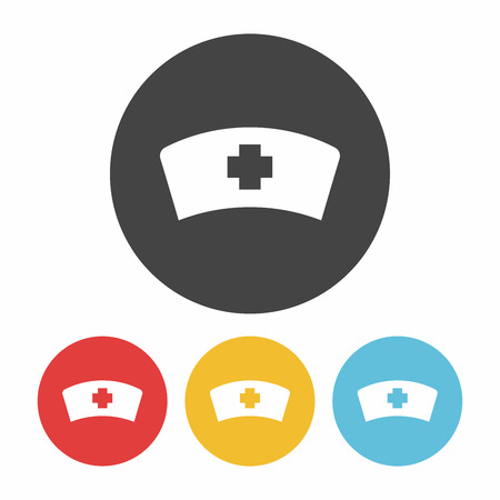 nursing clothes: nurse hat icon