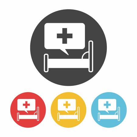 icon hospital: hospital beds icon