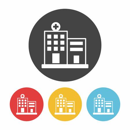 ziekenhuisgebouw icoon Stock Illustratie