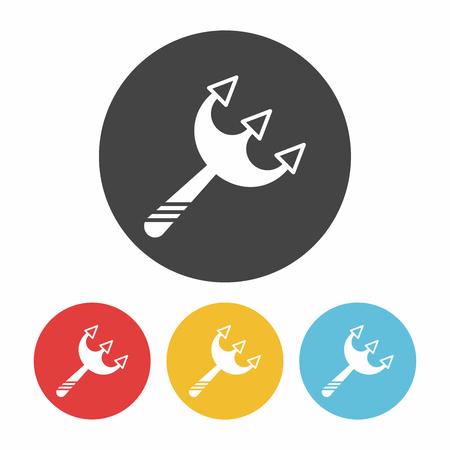 sharpen: halloween scythe icon Illustration