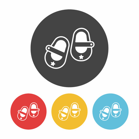 baby shoes: baby shoes icon