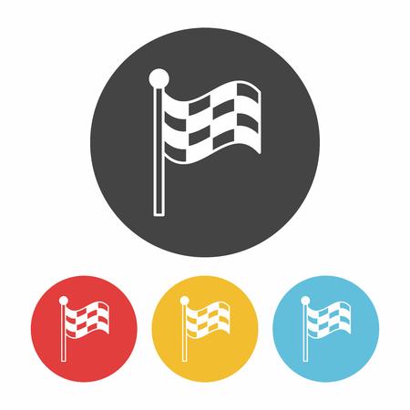 racing checkered flag crossed: Racing flag icon