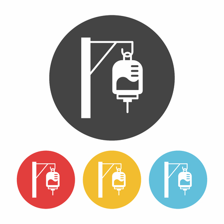 saline: medical drip icon