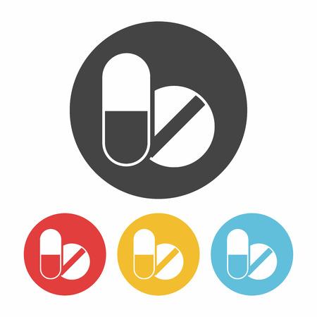 painkiller: medicine icon Illustration