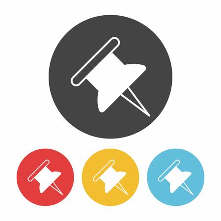 push: push pin icon Illustration